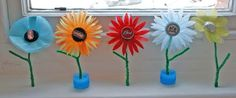 DIY Children's : DIY Metal Bottle Top Flowers