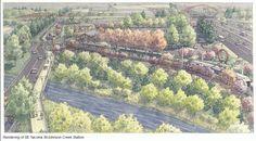 St/Johnson Creek Station Rendering - Portland-Milwaukie Light Rail (Orange line)