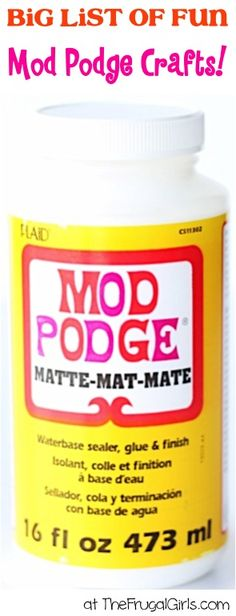 Mod Podge Crafts! ~ from TheFrugalGirls.com ~ you'll love this BIG list of easy and fun ModPodge Craft Ideas and DIY Projects! #thefrugalgirls