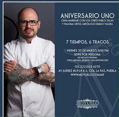 Cena aniversario en Puebla