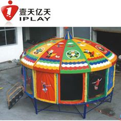 commerical Trampolines with enclosure for sale Home trampoline Enclosed Trampoline, In Ground Trampoline, Backyard Trampoline, Trampoline Ideas, Trampolines, In China, Professional Trampoline, New Patio Ideas, Yard Games