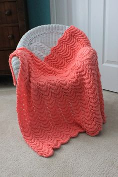 FREE PATTERN..baby blanket. So easy but it looks beautiful and is soft and squishy. CO 144. Row 1: K1, YO, K3, K2tog, K2tog, K3, YO, K1, repeat. Row 2: Purl. Row 3: Knit.