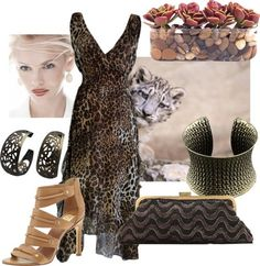 COM : Animal Print by chicastic featuring succulent centerpieces Leopard Print Wedding, Succulent Centerpieces, Clutch Purse, Animal, Formal Dresses, Lady, Image, Fashion, Dresses For Formal
