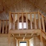 Cabin loft. #cozycabin #knottypinecabins #woodhome #pinecabin www.knottypinecabins.ca