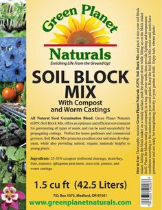 Soil Block Mix with Compost and Worm Castings