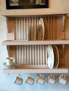 Euro/country chic plate rack by PiccadillyPrairie on Etsy