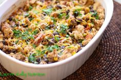 Healthy Mexican Casserole Recipe Main Dishes with lean ground turkey… Lentil Casserole, Casserole Recipes, Enchilada Casserole, Fast Healthy Meals, Healthy Eating, Healthy Recipes, Mexican Food Recipes, Dinner Recipes, Mexican Entrees