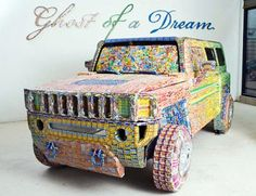 Inspired Ambitions: unusual art  Lottery Tickets car design by Ghost of Dreams