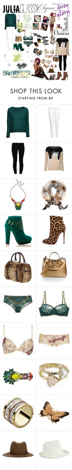 """""""Which style you like best? julia x diana"""" by dani-elle on Polyvore featuring moda, H&M, LnA, DANNIJO, Gucci, Christian Louboutin, Miss Sixty, Longchamp, Kenneth Jay Lane e Clo Intimo"""