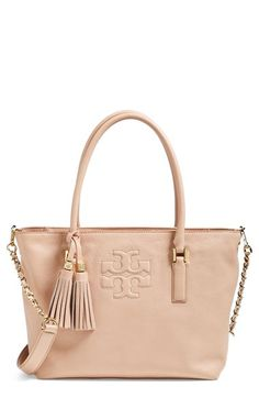 Tory Burch tote- This neutral bag will always be in style- keep forever piece <3