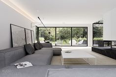 Home Decor Styles There is a distinct luxury in simplicity. This Luxembourg house from architect Katarzyna Kuo Stolarska takes this idea to the extreme. With a simple grayscale c Cheap Dorm Decor, Cheap Rustic Decor, Living Room Modern, Living Room Interior, Living Area, Tamizo Architects, Casa Milano, Contemporary Interior Design, Interior Modern