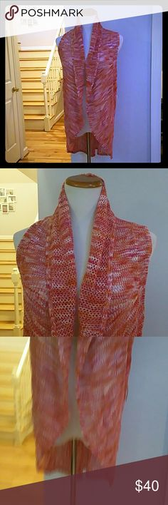 NWT JOHN PAUL RICHARD  VEST NWT John Paul Richard Ruffle Vest  Size : Medium  Materials : 100% ACRYLIC John paul richard  Jackets & Coats Vests