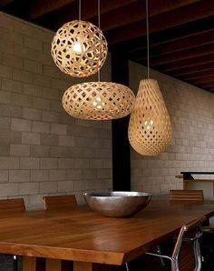eco-friendly + supercool hanging lights