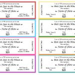 free make your own tickets
