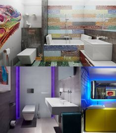 High Tech Interior Design is a modern design trend with focus on cutting-edge technology, straight lines, clear geometric shapes and futuristic furniture. Bathroom Design Small, Bathroom Interior Design, Modern Interior Design, Kitchen Design, Interior Decorating, Interior Ideas, Bathroom Ideas, Classic Bathroom, Futuristic Furniture