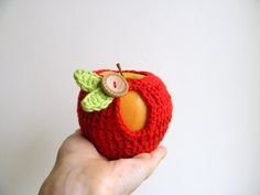 PDF crochet pattern, Apple cozy, DIY tutorial , Quick and easy, Instant download on Etsy, $4.50