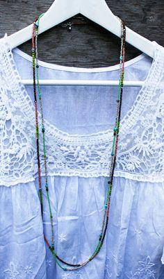 Multi-Purpose Long Seed Bead Necklace or Bracelet. $39.00, via Etsy.