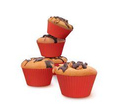 Met deze muffinvormen trakteer je familie, vrienden en uzelf op de lekkerste muffins en cakejes. De muffinvormen zijn gemaakt van geurloos siliconen. Hierdoor krijg je de muffins en cakejes makkelijk uit de vorm. Daarnaast zijn ze ook nog eens makkelijk schoon te maken.  Meer info: http://www.airfryerweb.nl/airfryer-accessoires/philips-muffinvorm-voor-de-airfryer-hd990900/