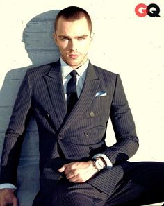 Navy Double Breasted Suit, and Caramel 3 piece Suit. Men's Spring