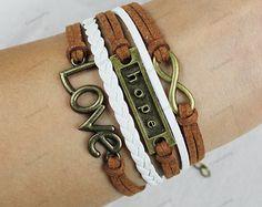 love hope bracelets -personalized bracelets brown rope barcelets charm bracelets best kids gifts177