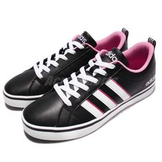 adidas Neo Label VS Pace W Black White Pink Women Shoes Sneakers Trainers B74539 #Adidas #FashionSneakers