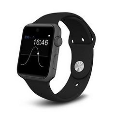 ETTG SW25 Bluetooth Smart Watch Support SIM Card Smartphone Fitness Tracker for IOS Android - Black * To view further for this item, visit the image link.