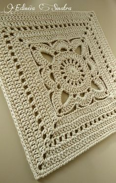 Crochet square thread 10 - My ideas : Crochet s. - Crochet square thread 10 – My ideas : Crochet square - Granny Square Crochet Pattern, Crochet Blocks, Afghan Crochet Patterns, Crochet Squares, Crochet Motif, Knitting Patterns, Knit Crochet, Crochet Granny, Free Crochet Square