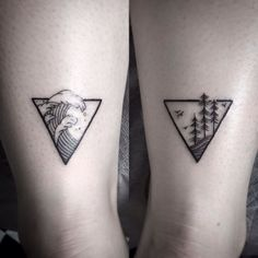 2017 trend Geometric Tattoo - Maybe instead of trees it could be clouds?!?:...