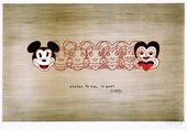 Dick Frizzell's 1997 lithograph, From Mickey to Tiki Tu Meke
