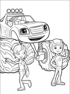 Stripes Blaze And The Monster Machines Coloring Pages Kolorowanki