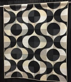 Black and White Trill 58″ x 68″ by Melanie Tuazon.  New Jersey Modern Quilt Guild.