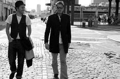 David & Marcus near the rag & bone offices in Meatpacking, NYC.  via rag & bone, guest pinner for Land Rover USA