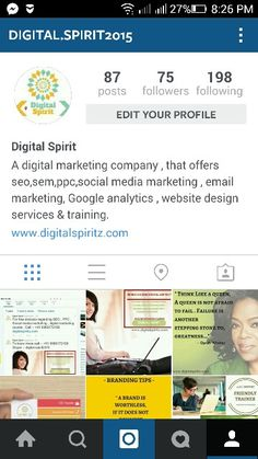 Follow us on instagram. Digital spirit , Digital marketing , SEO , Web designing , Search engine optimization , search engine marketing , social media management, social media marketing & Online training