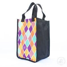 Bolsa de botellas - Rombos violeta