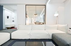 View the full picture gallery of Apartment In Bucharest Interior Design Work, Bucharest, Interior Architecture, Landscape Design, Relax, Shelves, Couch, Kitchen Living, Pictures