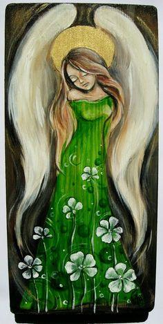 Sierpniowe.. malowane akrylem na drewnie Zmysłowe, delikatne i spokojne... idealne do każdego wnętrza, idealne na pamiątkowy p...