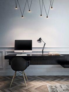 Questo articolo vi mostra una carrellata di fotografie per il vostro studio in bianco e nero, per lavorare in casa senza rinunciare ad un tocco di stile.