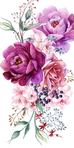 # Case # Cases # Art # Design # Pattern - Flower Tattoo Designs - Tattoo World Art Floral, Watercolor Flowers, Watercolor Art, Watercolor Flower Tattoos, Pastell Tattoo, Geometric Tatto, Upper Arm Tattoos, Purple Peonies, Flower Tattoo Designs