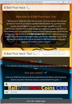 8 Ball Pool Hack and Cheats - How to Get Free Cash and Coins(iOS and Android) Working 8 Ball Pool Hack - 8 Ball Pool Cash and Coins Cheats 8 Ball Pool Hack ? Get Cash and Coins… Pool Coins, Pool Hacks, App Hack, Shin Splints, Hack Online, Cheat Online, Game Update, Test Card, Soccer Training