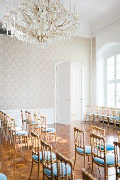 Wedding ceremony, Laxenburg Palace in Austria,  Gold, blue Wedding Set Up, Wedding Ceremony, Planer, Austria, Elegant, Simple, Gold, Blue, Classy