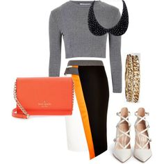 A fashion look from September 2015 by emma-oloughlin featuring Glamorous, River Island, Gianvito Rossi, Kate Spade and Boohoo