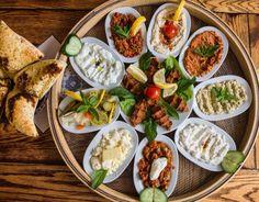 Turkish mezze platter