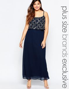 Lovedrobe | Lovedrobe Double Layer Embellished Maxi Dress at ASOS