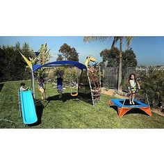 Playground Metal Swing Set UV Protective Sunshade Playing Kids Backyard Outdoor #Ironkids