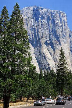 El Capitan, the largest exposed single piece of granite in the world... Yosemite