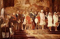 ALFONSO GROSSO Y SANCHEZ El Rey Alfonso XIII y su familia en la Exposición Iberoamericana de Sevilla 1929