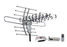 BUY NOW Esky® Sky of Electronics Esky® HG-981 Remote Control Rotating Antenna has adopted the advanced gain amplification technology. It comes with integrated signal amplifier for minimum signal loss and can assure you clear images with low noise and good voice. Specs: Frequency: 45-860 MHz Gain: 22-38dB Rotation: 360° Channel: VHF1-12 UHF21-69 Impedance: 75Ω Power: 3W Power Supply: AC110V Rotation speed: 2-4 rounds/min Package includes: 1 x