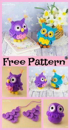 Cute Crochet Owl Amigurumi – Free Pattern #freecrochetpatterns #amigurumi #toys #owl