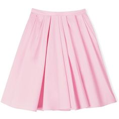 Carven Knee Length Pleated Skirt ($110) ❤ liked on Polyvore featuring skirts, bottoms, pink, faldas, light pink, carven skirt, pink pleated skirt, light pink skirt, pink skirt and high waisted skirts