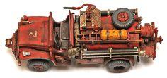 HO scale rural brush fire truck